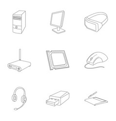 computer accessories headphones computer parts vector image vector image