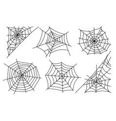 Halloween spider web icons vector