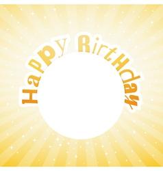 happy birthday card vector image