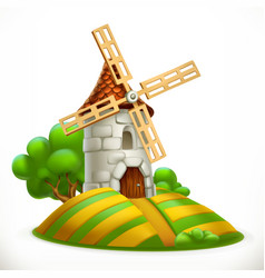 mill 3d icon vector image vector image