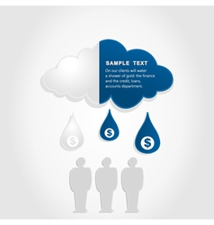Monetary cloud vector image vector image