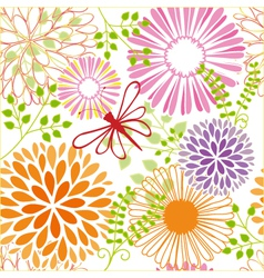 seamless flower butterfly vector image vector image