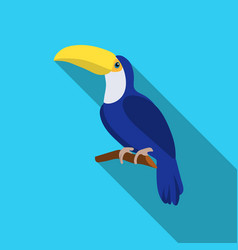 toucan icon in flate style isolated on white vector image vector image