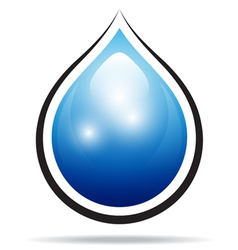water drop sign vector image