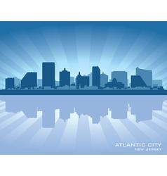 Atlantic City New Jersey skyline silhouette vector image vector image
