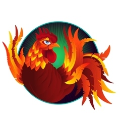 Colorful cartoon rooster symbol of 2017 year by vector image vector image