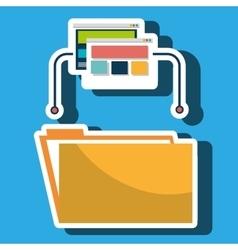 folder file web page vector image