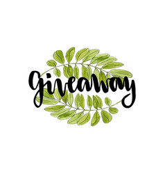 giveaway icon for social media contests hand vector image
