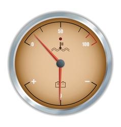 Retro motor temperature and voltage gauge icon vector image vector image