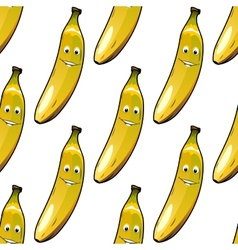 Seamless pattern of happy ripe yellow bananas vector image vector image