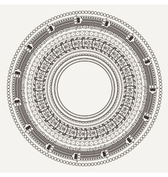 Set of frames in style stone Aztec calendar vector image