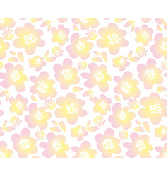 tender color floral in retro 60s style abstract vector image