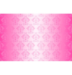 wallpaper vintage pattern pink wide vector image vector image