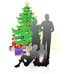 a family christmas vector image