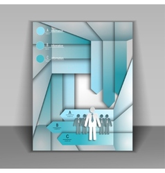 Business booklet with arrows vector image