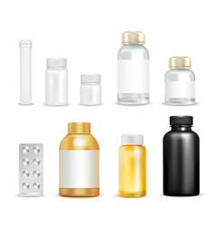 medication vitamins packaging set vector image vector image