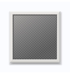 Realistic white picture frame modern empty photo vector image vector image