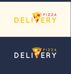 set of logos pizza delivery in bright flat vector image vector image