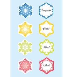 Snowflake Gift Card or Present Card vector image vector image