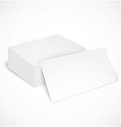 Stack of business cards with shadow template vector image vector image