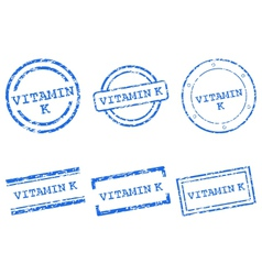 Vitamin K stamps vector image