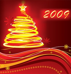2009 Christmas Background vector