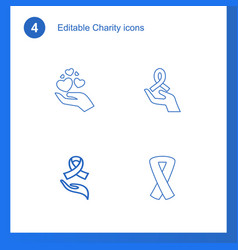 4 charity icons vector image