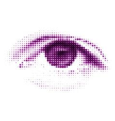 Abstract halftone digital eye eps 8 vector