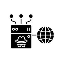 anonymous proxy black glyph icon vector image