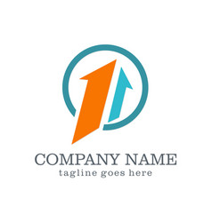 arrow up company logo vector image