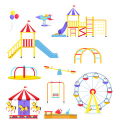 attractions from children playground vector image