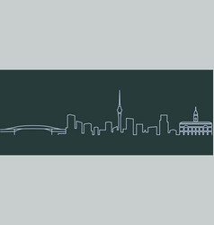 auckland single line skyline vector image