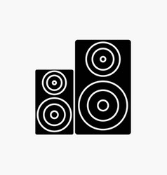 Audio hifi monitor speaker studio glyph icon vector