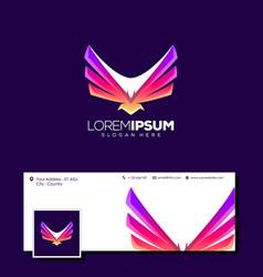 awesome eagle logo design vector image