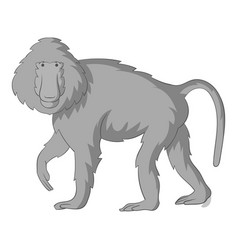Baboons icon monochrome vector