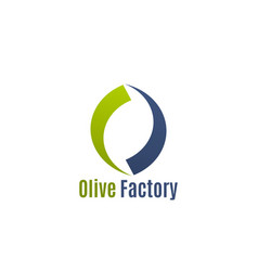 badge for olive factory vector image