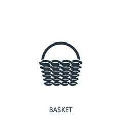 Basket icon simple gardening element symbol vector
