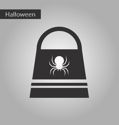 Black and white style icon halloween bag vector