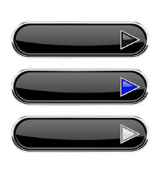black buttons with arrows menu interface elements vector image
