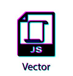 Black js file document icon download js button vector