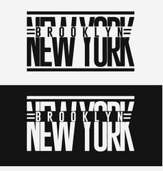 Brooklyn sport wear typography emblem t-shirt vector