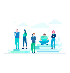 business colleagues - flat design style colorful vector image