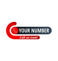 Call us now button - template for contact phone vector