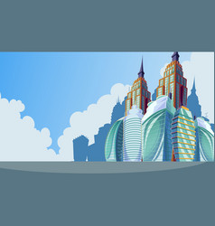 cartoon an urban landscape vector image