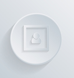 circle icon with a shadow picture image vector image