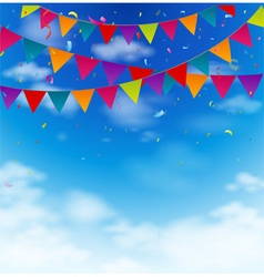 Colorful bunting flags vector