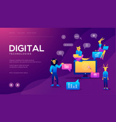concept for digital marketing agency digital vector image