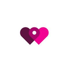 connect love logo icon design vector image