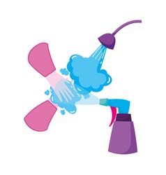Covid 19 coronavirus wash you hands and spray vector