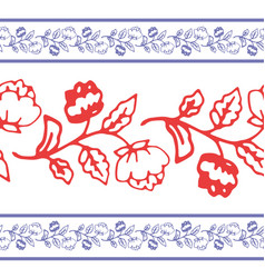 decorative floral border vector image